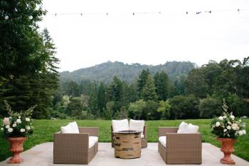 Outdoor Furniture and Firepit - Photo Courtesy of Gladys Jem Photography