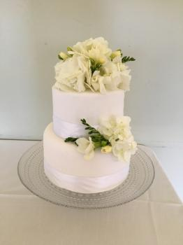 All White Ceremonial Cake