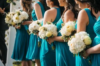 Bridesmaids Line Up - Photo Courtesy of Hewitt Photography