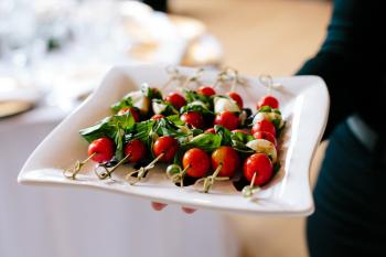 Caprese Kabobs with Balsamic Drizzle - Photo Courtesy of Gladys Jem Photography