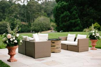 Fire Pit and Outdoor Furniture - Photo Courtesy of Gladys Jem Photography